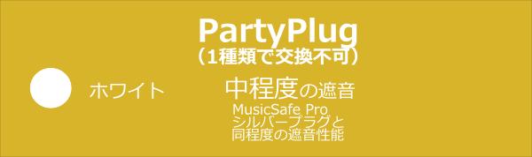 PartyPlug,耳栓,フィルター